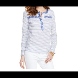 Vineyard Vines | Resort Stripped Embroidered Top